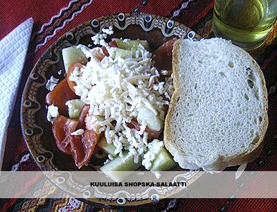 kuuluisa shopska-salaatti