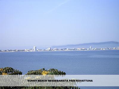 sunny beach nessebarista päin kuvattuna