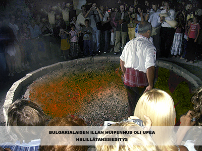 bulgarialaisen illan huipennus oli upea hiilillätanssiesitys